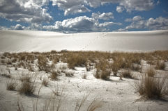 View of White Sands National Monument. This is a view of White Sands National Monument royalty free stock image