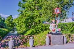 China bridge in Tsarskoe Selo the Alexander garden stock images