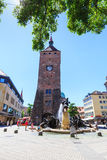 View of the White Tower (Weisser Turm) in the old town part of N Royalty Free Stock Photography