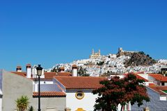White town, Olvera, Andalusia, Spain. Stock Images