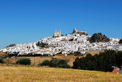 White town, Olvera, Andalusia, Spain. Royalty Free Stock Images