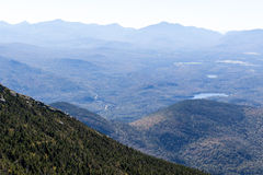 View from Whiteface Mountain in the Adirondacks of Upstate NY. View from Whiteface Mountain which is one of the highest mountains in the Adirondacks at 4,867 Royalty Free Stock Photo