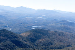 View from Whiteface Mountain in the Adirondacks of Upstate NY. View from Whiteface Mountain which is one of the highest mountains in the Adirondacks at 4,867 Stock Image