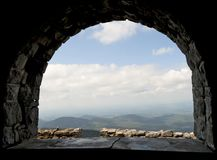 View from the Whiteface Mountain Castle. Royalty Free Stock Photography