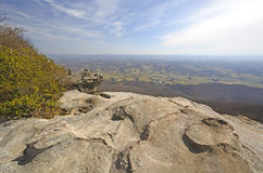 View from the Whites Rocks on a Sunny Day Stock Photos
