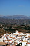 White village, Iznate, Andalusia, Spain. Stock Images