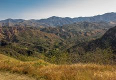 View Within Whiting Ranch Wilderness Park. A view of Whiting Ranch Wilderness Park in Southern California royalty free stock photography
