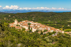 View On The Whole City Of Ramatuelle-France Stock Photo