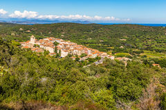 View On The Whole City Of Ramatuelle-France Royalty Free Stock Photos