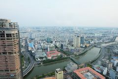 Ho Chi Minh city view from top @ Bitexco Financial Tower stock photography