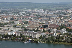 View of Wien. From Exelberg Telecommunications Tower Royalty Free Stock Photography