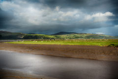 View at Wigtown Harbour. Dumfries and Galloway royalty free stock images