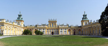 View of Wilanow Royal Palace on AUGUST 8 2013 Stock Photo