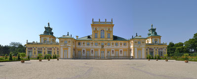 View of Wilanow Royal Palace on AUGUST 8 2013 Stock Photos