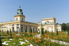 View of Wilanow Royal Palace on AUGUST 8 2013 Royalty Free Stock Photo
