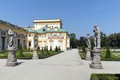 View of Wilanow Royal Palace on AUGUST 8 2013 Stock Images