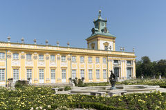 View of Wilanow Royal Palace on AUGUST 8 2013 Royalty Free Stock Images
