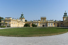 View of Wilanow Royal Palace on AUGUST 8 2013 Stock Photography