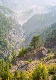 View of wild mountain landscape of Turkey stock photography