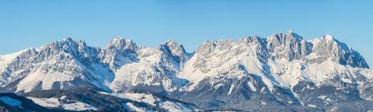 View of Wilderkaiser Spitze, Kitzbuhel, Austria. Panoramic view of Wilderkaiser Spitze, Kitzbuhel, Austria Royalty Free Stock Image