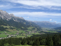 View from Wildkogel, Austria Royalty Free Stock Photo