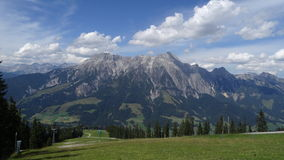 View from Wildkogel, Austria Royalty Free Stock Photography