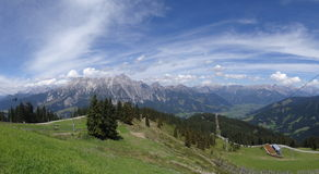 View from Wildkogel, Austria Stock Photography