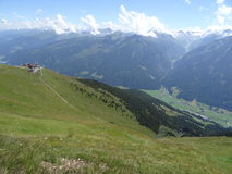 View from Wildkogel, Austria Royalty Free Stock Images