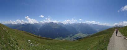 View from Wildkogel, Austria Royalty Free Stock Image