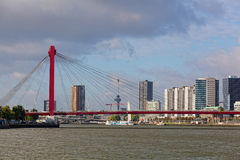 View of Willemsbrug Bridge in Rotterdam Stock Images
