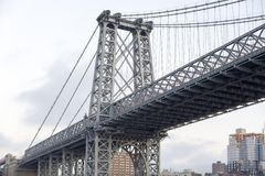 View of the Williamsburg Bridge in New York City Stock Image