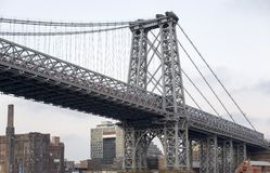 View of the Williamsburg Bridge in New York City Royalty Free Stock Image