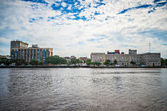 View of Wilmington North Carolina from across the river Stock Images