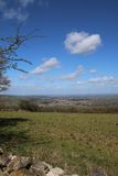 View of Winchcombe. This is a view over the small Cotswold town of Winchcombe in Gloucestershire. The picture was taken from the hills surrounding the town in Stock Photos