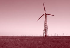 Wind turbines power station. View on wind turbines power station Royalty Free Stock Images