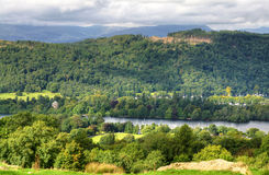 View of Windermere from above Royalty Free Stock Photography