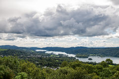 View of Windermere Lake from Orrest Head, Cumbria, UK Stock Images