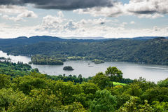 View of Windermere Lake from Orrest Head, Cumbria, UK Royalty Free Stock Photography