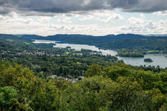 View of Windermere Lake from Orrest Head, Cumbria, UK Stock Photos