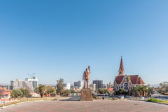 View of Windhoek as seen from the Independence Memorial Royalty Free Stock Photo