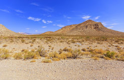 View from Winding road Artists drive in Death Valley Royalty Free Stock Images