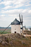 View of windmills in Consuegra, Spain. Windmills in Don Quixote route in Consuegra, Toledo, Spain Royalty Free Stock Photo