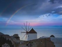 Oia town, Santorini Island - Greece stock photos