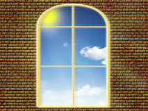 View from window. At solar day on blue sky Royalty Free Stock Photos