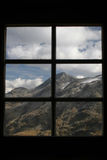 View from window. Of the mountain royalty free stock photo