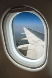View from window with airplane Royalty Free Stock Image