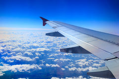 View from the window of an airplane Stock Photos