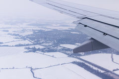 View from the window of airplane Royalty Free Stock Images