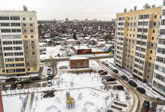 The view from the window of an apartment building Stock Images