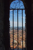 View from window of Asinelli Tower Stock Photo